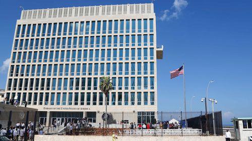The US Embassy in Havana, Cuba. (AAP)