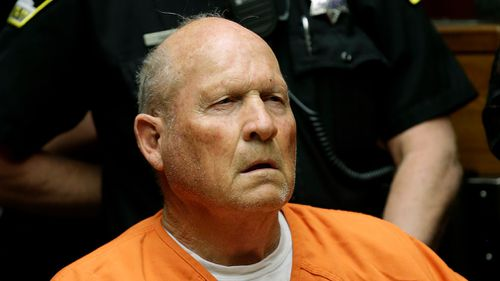 Joseph James DeAngleo was arrested after DNA linked him to crimes attributed to the 'Golden State Killer' and he has initially been charged with four counts of murder and could face dozens more, authorities said.(AP)