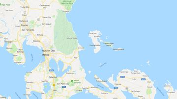 The ferry sunk off an island near the capital Manila. (Google Maps)