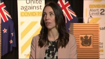 JAcinda Ardern is interviewed as an earthquake takes place