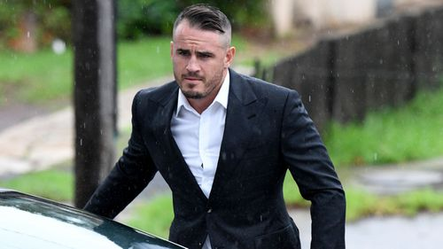 Josh Reynolds outside Sutherland Local Court today.