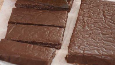9Honey's 12 Hacks of Christmas 3-ingredient chocolate fudge