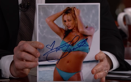 Kimmel compared Daniels autograph to previous ones. (ABC)