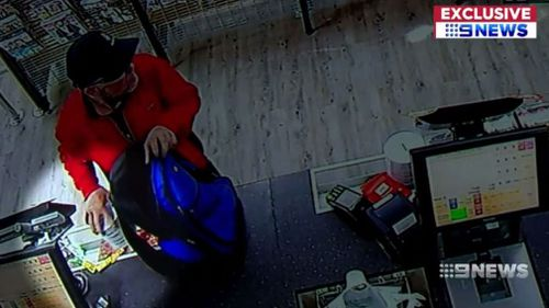 The man stole the tin from the IGA. (9NEWS)