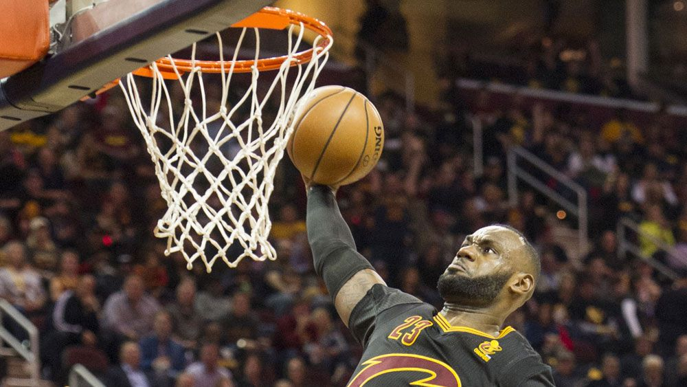 LeBron James starred for the Cavs. (AAP)