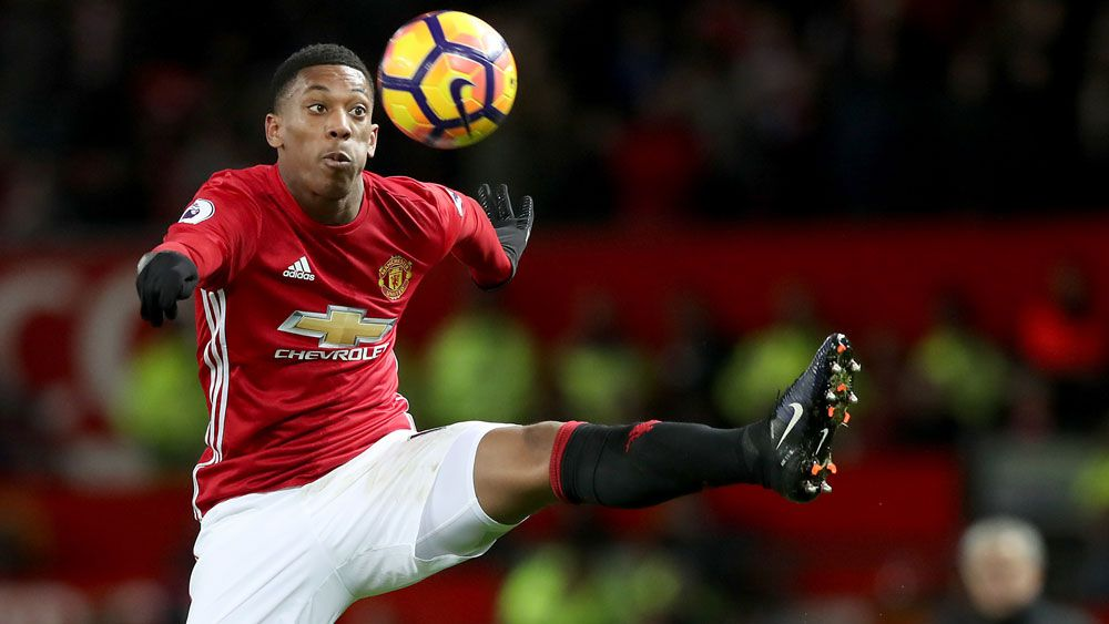 Anthony Martial has had an unsettled time at Manchester United. (AAP)