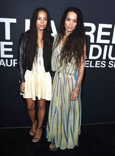Lisa Bonet and daughter Zoe Kravitz with tumbling tresses, nude lips and bold brows.