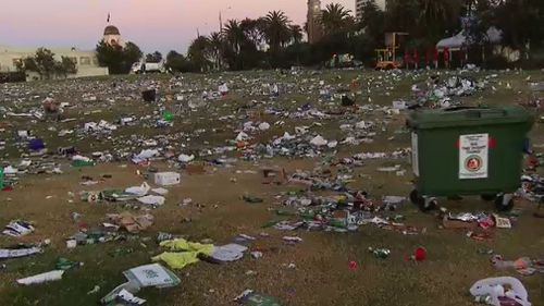 The beach was left unrecognisable. (9NEWS)