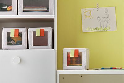 "<a href=""http://www.ikea.com/aa/en/catalog/products/20327974/"" target=""_blank"" draggable=""false"">SLÄKTING kids' storage boxes, $14.95 (pack of three).</a>"