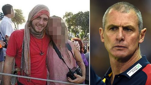 Cy Walsh (left) was 'mentally incompetent' at the time of his father's alleged murder. (AAP)