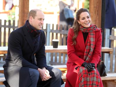 Prince William and Kate Middleton visit Cardiff, Wales during their Royal Train tour.