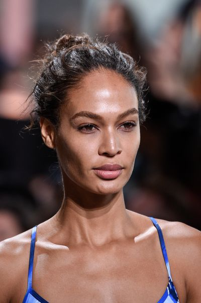 Model Joan Smalls is low-key and lovely.