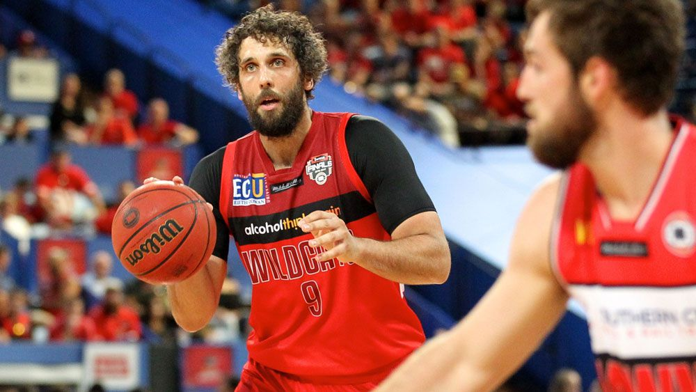Perth Wildcats' Matt Knight in action against the Illawarra Hawks in the NBL grand final series.