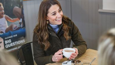 Kate Middleton, Duchess of Cambridge meets with local representatives of Early Years and families who have benefitted from the work of the charity at The Ark Open Farm on February 12, 2020 in Newtownards, Northern Ireland