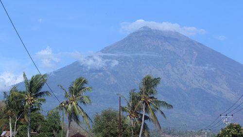 Mount Agung volcano. (AP)