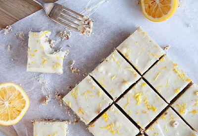 Gluten-free lemon coconut slice