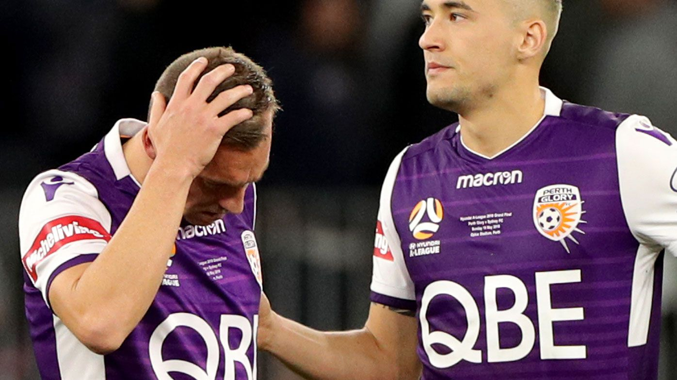 Perth Glory rally around distraught Brendon Santalab after penalty shootout failure