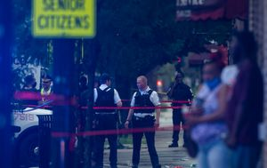 Fourteen wounded after Chicago drive-by shooting near funeral home