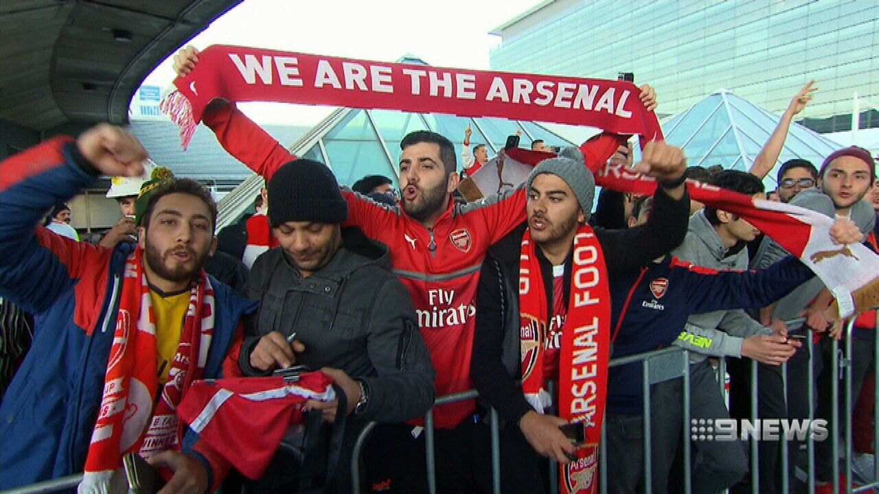 Arsenal arrive down under