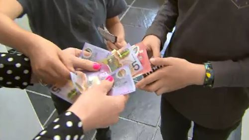 The average child received just over $500 this holidays. (9NEWS)