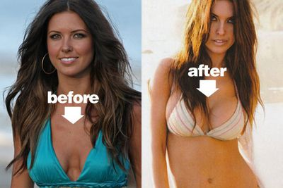 Airbrushing can even fix a botched boob job!