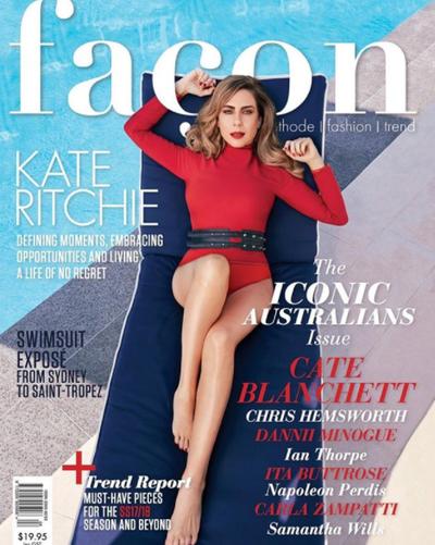 """<p>Australia's golden girl Kate Ritchie has come a long way since playing  Sally Fletcher on <em>Home & Away</em>.</p> <p>The actress is barely recognisable in a spread for the latest issue of fashion magazine,<a href=""""https://www.faconaustralia.com/"""" target=""""_blank"""" draggable=""""false""""> Facon</a>.</p> <p>The Nova radioco-hostsizzles in a series of outfits from the likes of Chanel, Armani, Dior and Carla Zampatti, paired with jewels from Paspaley.</p> <p>The publication posted a series of images from the stunning photo shoot on its official Instagram page. </p> <p>Take a look and prepare to swoon.</p> Image: Facon Magazine/ Instagram: <a href=""""https://www.instagram.com/facon_au/?hl=en"""" target=""""_blank"""" draggable=""""false"""">@Facon_au</a>"""