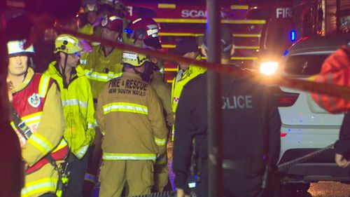 Emergency crews had to be held back from the scene until the power was switched off.