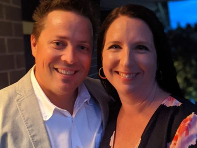 Karen Lamond with her husband.