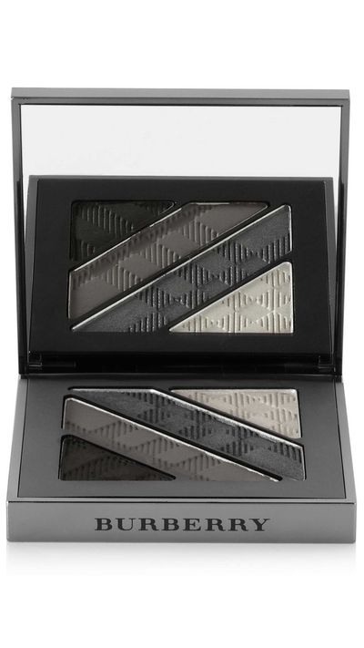 "<a href=""http://www.net-a-porter.com/product/444592/Burberry_Beauty/complete-eye-palette-smokey-grey-no-01"" target=""_blank"">Complete Eye Palette in Smokey Grey, $85, Burberry Beauty</a>"
