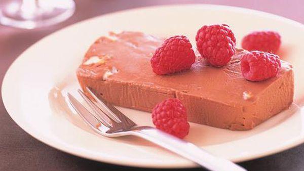 Chocolate nougat frozen parfait