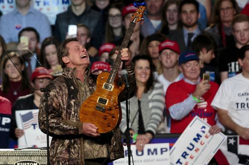 """Musician Ted Nugent has defended the National Rifle Association during a radio interview in which he said Florida students who survived a recent school shooting and now call for gun control have """"no soul"""". Picture: AAP."""