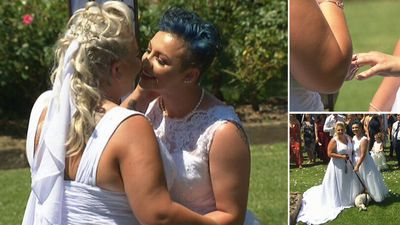 Brides seal the deal with a kiss