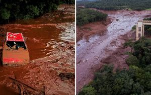 Nine dead and up to 300 missing after Brazil dam collapse causes mudslide