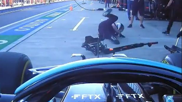 'Worried' Hamilton wipes out mechanic