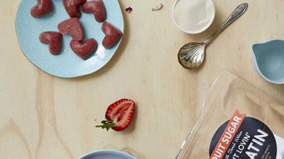 "Recipe:&nbsp;<a href=""https://kitchen.nine.com.au/2016/12/14/15/30/sarah-wilsons-strawberry-delight-gummies"" target=""_top"">Sarah Wilson's strawberry delight gummies</a>"