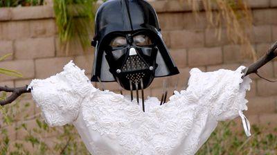 A Darth Vader scarecrow. (MyExWifesWeddingDress.com)