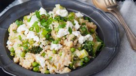 Goat's cheese and asparagus risotto