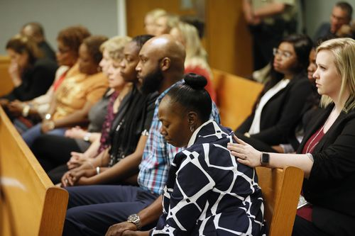 Robin Moss, Emani's grandmother, wept as details were revealed in court if the four-year-old's gruesome torture and death at the hands of her stepmother Tiffany Moss.