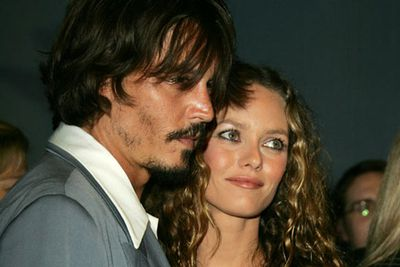 Johnny Depp and Vanessa Paradis<br />