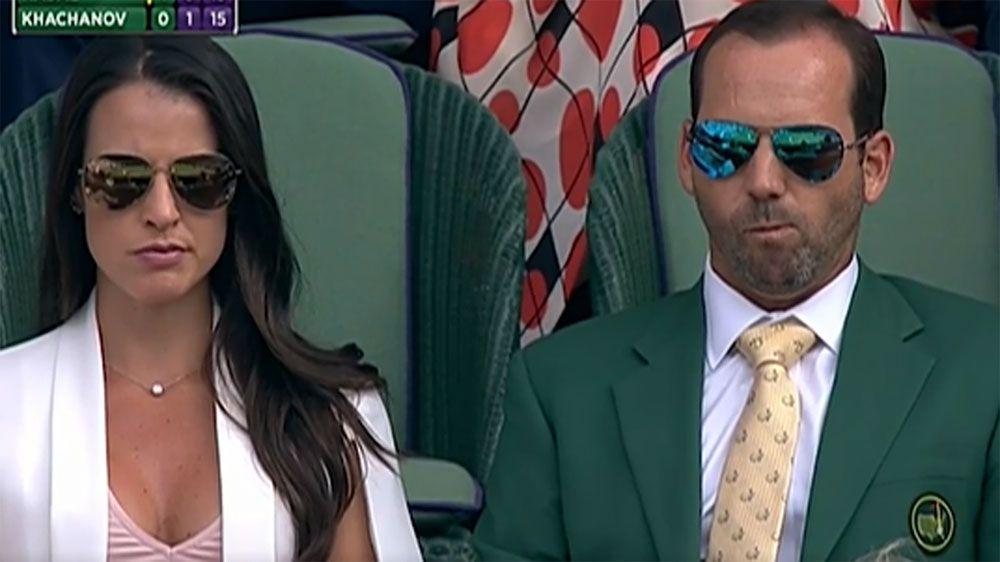 Sergio Garcia wears Masters green jacket to Wimbledon to watch Rafa Nadal play