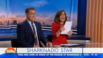 Tara Reid critiques Karl Stefanovic and Lisa Wilkinson's Sharknado 5 performances on TODAY