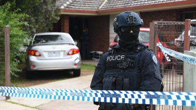 Homes being raided in Melbourne's west by terror police