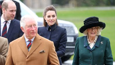 Charles and Camilla joined by the Duke and Duchess of Cambridge at the Defence Medical Rehabilitation Centre, Stanford Hall on February 11, 2020 in Loughborough, United Kingdom.