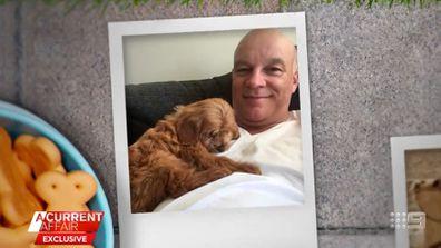 Oscar the dog with owner MArk