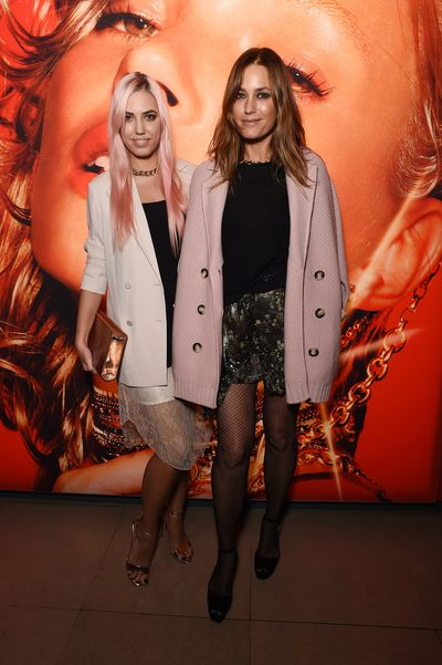 Pink hair for Amber Le Bon, out with her stylish mum Yasmin Le Bon, one of the highest earning models in the 1980s.