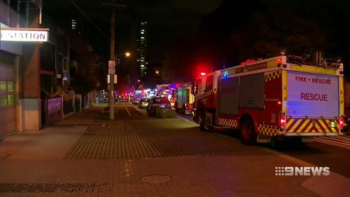 Emergency services were called to an apartment block on George Street Redfern this morning.