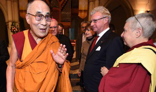 The Dalai Lama visited Brisbane in June 2015. (Photo: AP).