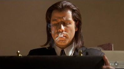 John Travolta in Pulp Fiction.