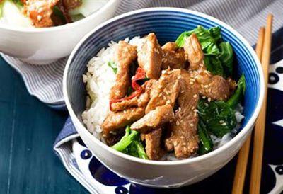 Thursday: Sesame pork stir-fry