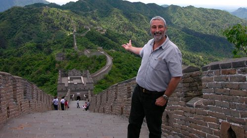Don Burke in China for an episode of Burke's Backyard. (AAP)